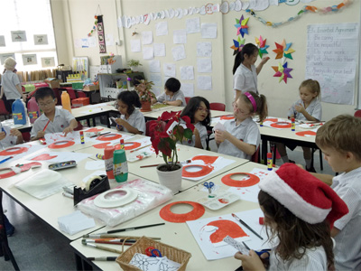 Kids with Christmas Art